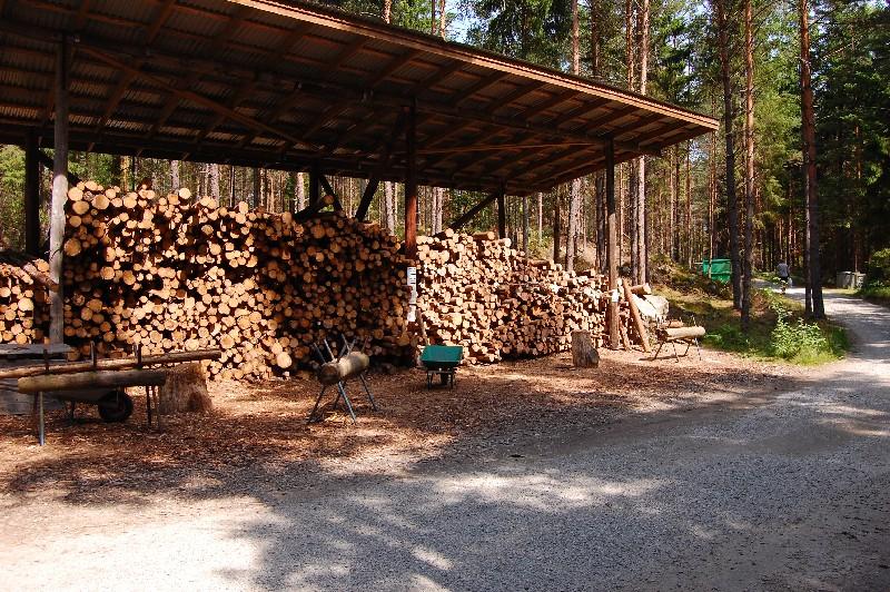 Holz sägst und hackst Du selbst