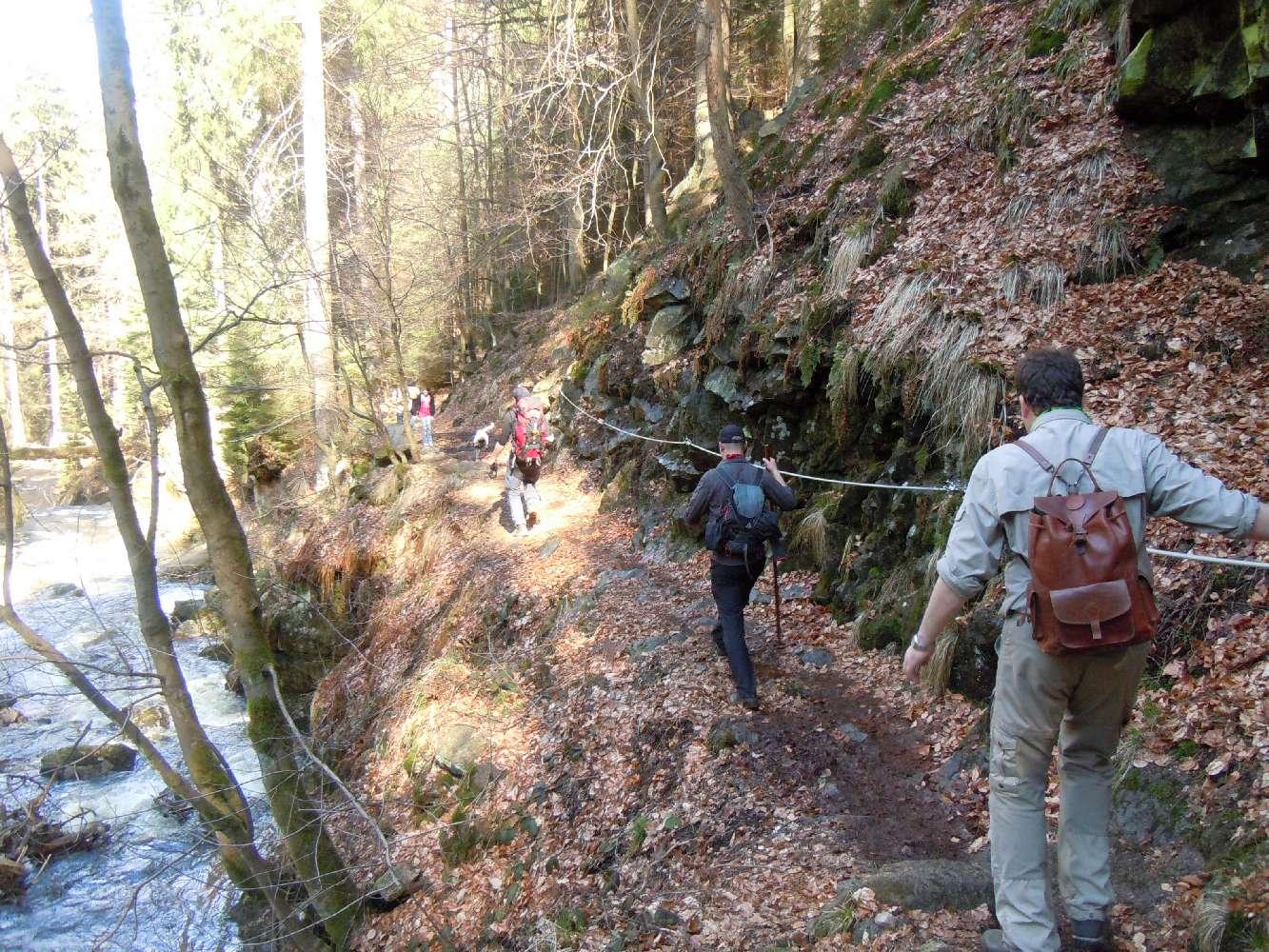 Abwechslungsreicher Abstieg vom Brocken