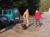 Gleich geht es auf die Wanderung mit Hund und Wanderhose