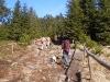 Ein steiniger Wanderweg