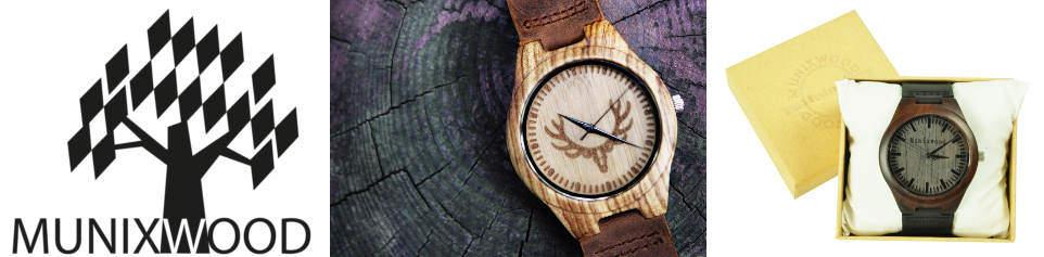 Handgefertigte Armbanduhren aus Holz