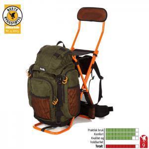 Einzigartig: Rucksackstuhl mit Rückenlehne!