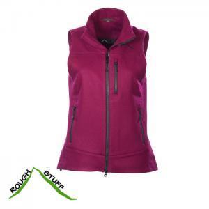 Sportliche Damen Lodenweste in frischer Farbe Brombeer