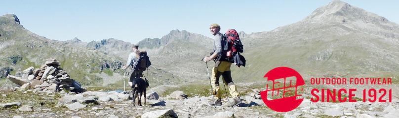 Wanderschuhe / Trekkingschuhe Alaska GTX von Hanwag machen ihren Weg beim Höhenwandern in den Alpen