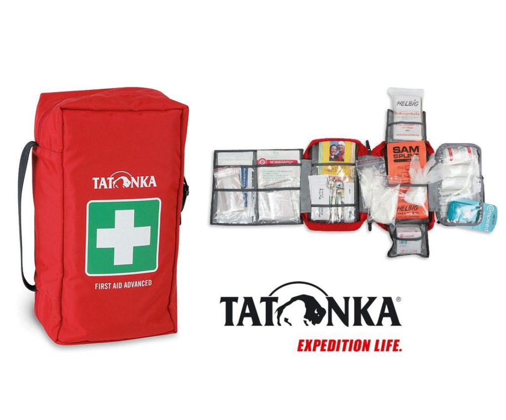 Tatonka First Aid Advanced - umfangreich ausgestattetes Erste hilfe Set für geführte Trekkingtouren / Wanderungen
