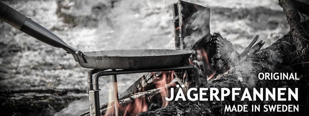 Die authentischen Jägerpfannen von Stabilotherm für das Kochen und Braten am Lagerfeuer!