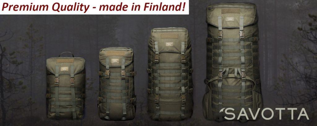 Savotta Jäger / Jääkäri Rucksack in verschiedenen Größen für unterschiedliche Einsatzbedingungen!